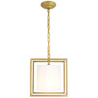 Living District LD6005D12BR Mirin 1 Light 12 inch Brass Pendant Ceiling Light