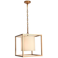 Living District LD6005D16G Mirin 1 Light 16 inch Gold Pendant Ceiling Light