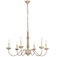 Merritt 6 Light 35 inch Weathered Dove Chandelier Ceiling Light