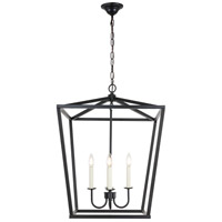 Living District LD6008D20BK Maddox 4 Light 20 inch Black Pendant Ceiling Light
