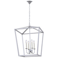 Living District LD6008D20S Maddox 4 Light 20 inch Vintage Silver Pendant Ceiling Light alternative photo thumbnail