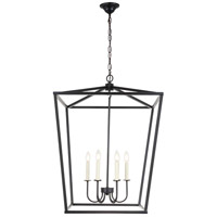 Living District LD6008D24BK Maddox 6 Light 24 inch Black Chandelier Ceiling Light