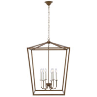 Living District LD6008D24G Maddox 6 Light 24 inch Vintage Gold Pendant Ceiling Light