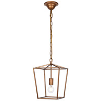 Living District LD6008D9G Maddox 1 Light 10 inch Vintage Gold Pendant Ceiling Light