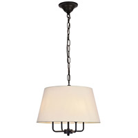 Living District LD6009D17BK Maple 4 Light 17 inch Black Pendant Ceiling Light