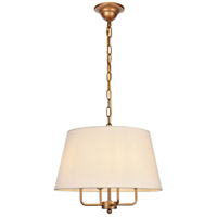 Living District LD6009D17G Maple 4 Light 17 inch Gold Pendant Ceiling Light