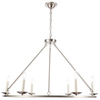 Living District LD6010D36BN Maine 6 Light 36 inch Burnished Nickel Chandelier Ceiling Light