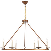 Living District LD6010D36G Maine 6 Light 36 inch Vintage Gold Chandelier Ceiling Light photo thumbnail