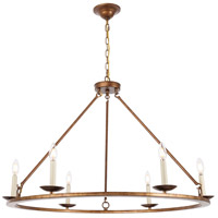 Living District LD6010D36G Maine 6 Light 36 inch Vintage Gold Chandelier Ceiling Light alternative photo thumbnail