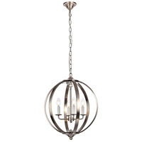 Living District LD6011D18BN Marlow 4 Light 18 inch Burnished Nickel Pendant Ceiling Light