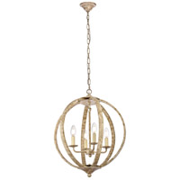 Living District LD6011D18WD Marlow 4 Light 18 inch Weathered Dove Pendant Ceiling Light