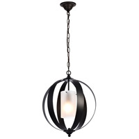 Living District LD6012D15BK Marion 1 Light 15 inch Black Pendant Ceiling Light