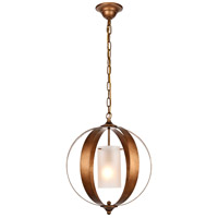Living District LD6012D15G Marion 1 Light 15 inch Vintage Gold Pendant Ceiling Light
