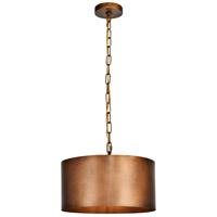 Living District LD6015D15BR Miro 1 Light 15 inch Manual Brass Pendant Ceiling Light