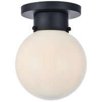 Living District LD6017 Gael 1 Light 8 inch Flat Black and White Flush Mount Ceiling Light