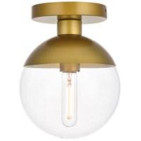 Living District LD6055BR Eclipse 1 Light 8 inch Brass Flush Mount Ceiling Light
