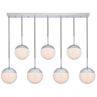 Living District LD6088C Eclipse 7 Light 8 inch Chrome Pendant Ceiling Light