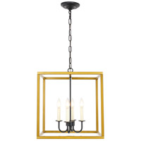 Living District LD6105D16BRBK Eclipse 4 Light 16 inch Brass and Black Pendant Ceiling Light