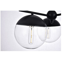 Living District LD6129BK Eclipse 3 Light 21 inch Black Pendant Ceiling Light alternative photo thumbnail