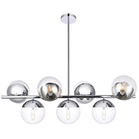 Living District LD6137C Eclipse 7 Light 18 inch Chrome Pendant Ceiling Light