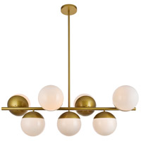 Living District LD6138BR Eclipse 7 Light 18 inch Brass Pendant Ceiling Light
