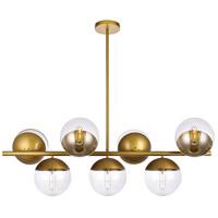 Living District LD6139BR Eclipse 7 Light 18 inch Brass Pendant Ceiling Light