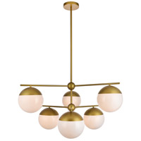 Living District LD6144BR Eclipse 6 Light 36 inch Brass Pendant Ceiling Light