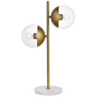 Eclipse 23 inch 40 watt Brass Table Lamp Portable Light