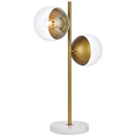 Living District LD6157BR Eclipse 23 inch 40 watt Brass Table Lamp Portable Light alternative photo thumbnail