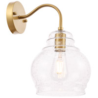 Living District LD6194BR Pierce 1 Light 8 inch Brass Wall sconce Wall Light