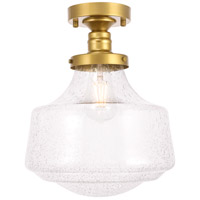 Living District LD6242BR Lyle 1 Light 11 inch Brass Flush Mount Ceiling Light