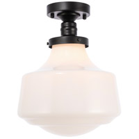 Living District LD6243BK Lyle 1 Light 11 inch Black Flush Mount Ceiling Light