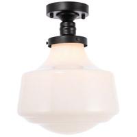 Living District LD6243BK Lyle 1 Light 11 inch Black Flush Mount Ceiling Light