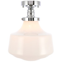 Living District LD6244C Lyle 1 Light 11 inch Chrome Flush Mount Ceiling Light