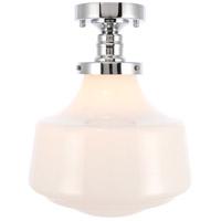 Living District LD6244C Lyle 1 Light 11 inch Chrome Flush Mount Ceiling Light