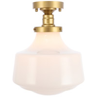 Lyle 1 Light 11 inch Brass Flush Mount Ceiling Light