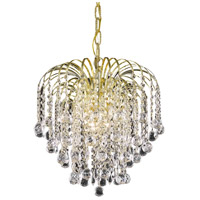 Living District LD6802D14G Addison 3 Light 14 inch Gold Pendant Ceiling Light