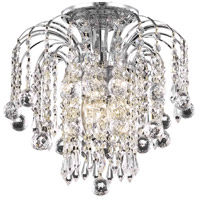 Living District LD6802F12C Addison 3 Light 12 inch Chrome Flush Mount Ceiling Light