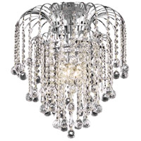Living District LD6802F16C Addison 4 Light 16 inch Chrome Flush Mount Ceiling Light