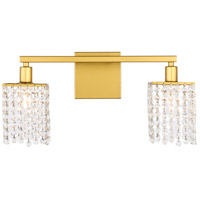 Living District LD7008BR Phineas 2 Light 18 inch Brass Wall sconce Wall Light