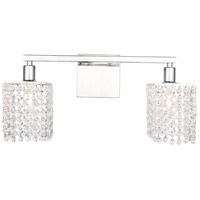 Living District LD7009C Phineas 2 Light 18 inch Chrome Wall sconce Wall Light