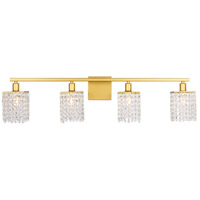 Living District LD7012BR Phineas 4 Light 36 inch Brass Wall sconce Wall Light