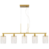 Living District LD7503BR Taylor 5 Light 5 inch Brass Pendant Ceiling Light