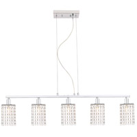 Living District LD7503C Taylor 5 Light 5 inch Chrome Pendant Ceiling Light