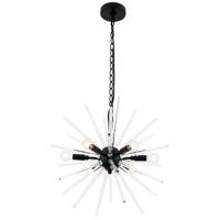 Living District LD7507BK Horizon 6 Light 20 inch Black Pendant Ceiling Light
