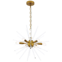 Living District LD7507BR Horizon 6 Light 20 inch Brass Pendant Ceiling Light