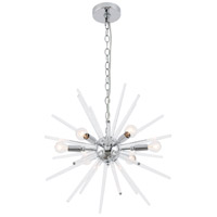 Living District LD7507C Horizon 6 Light 20 inch Chrome Pendant Ceiling Light
