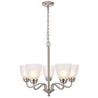 Bale 5 Light 23 inch Brushed Nickel Chandelier Ceiling Light
