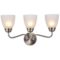 Bale 3 Light 22 inch Brushed Nickel Wall Sconce Wall Light
