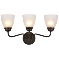 Living District LD8001W22ORB Bale 3 Light 22 inch Oil Rubbed Bronze Wall Sconce Wall Light